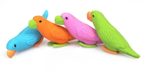 """""""Papagei"""" Radierer"""